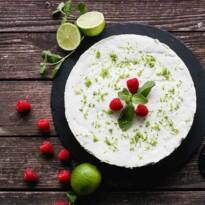 Cheesecake cu lime și mentă