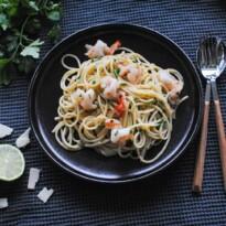Spaghetti AOP cu creveti