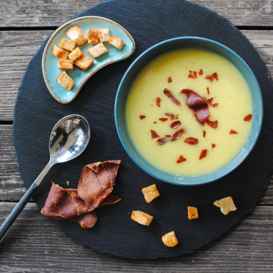 supa crema de cartofi cu praz